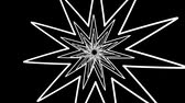 havoc : Geometric Spiral White Stars Abstract Motion Black Background Stock Footage