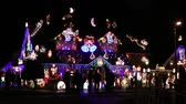 elaborate : House Decorated With Colorful Christmas Lights For Christmas Holidays HD 1080 x 1920 Stock Footage