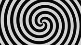 spirally : black and white hypnotic rotating spiral