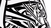 havoc : black and white stripes abstract background