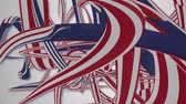 havoc : red white and blue stripes abstract background Stock Footage