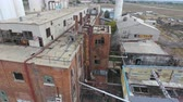 sen : Aerial flyby of abandoned factory