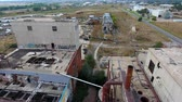 sen : drone footage of abandoned factory
