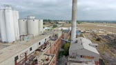 sklep : Drone footage of crumbling factory Wideo