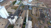 sen : Aerial footage of crumbling factory