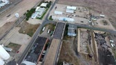 sen : Aerial footage of vast abandoned factory