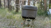 food cooking in nature