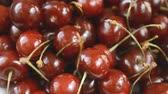 sweet fresh cherries close up