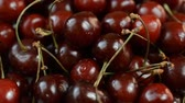 cerises : fresh cherries with drop water close up