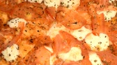 botanas : Food background: pizza close up