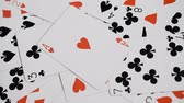 cassino : playing cards background, ace of hearts, casino abstract Stock Footage