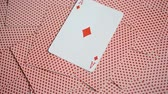 cassino : playing cards abstract, ace of diamond Stock Footage