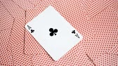 casino chips : playing cards abstract, ace of spades Stock Footage