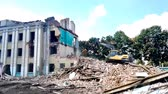 engel : GOMEL, BELARUS - August 4, 2018: Volvo destructive machine Building Demolition
