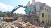 yumruk : GOMEL, BELARUS - August 4, 2018: Volvo destructive machine Building Demolition