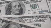 banknotlar : one hundred us dollar banknote Stok Video