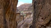 wadi : Petra Jordan, one of the wonders of the World with amazing carvings and buildings