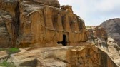 petra : Petra Jordan, one of the wonders of the World Stock Footage