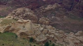 tomb : Petra Jordan, one of the wonders of the World Stock Footage