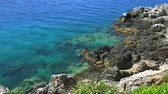 yunan : Kefalonia Island Beaches and Landscapes of Greece Stok Video