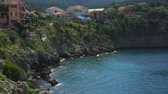греческий : Kefalonia Island Beaches and Landscapes of Greece Стоковые видеозаписи