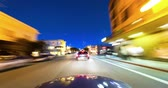 vibrante : City Night Driving Time Lapse. Driving in the Marina District of San Francisco. Vídeos