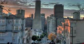 vitoriano : San Francisco Sunrise. Filmed at Telegraph Hill looking towards Downtown. Zoom Out.