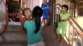 segít : CAMBODIA - June 5, 2017: A group of little Cambodian children in their daily life EDI MF