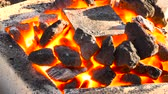 ferreiro : A very suggestive footage of a coking coals burning in a forge at 1000 degrees with a melting pot