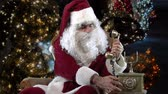 SantaClaus calling by a vintage phone Wideo