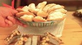 cibo italiano : Italian ricotta cheese cookies served on a shine christmas table. k45 SF