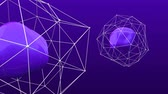 arte abstrata : Purple Plexus Cell is a 3D organic looping animation that would be a great background or production asset for any technology or cutting edge production. Vídeos