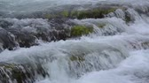 musgo : Cascading waterfalls. with audio camera locked Stock Footage