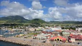 Timelapse of the port of St. Kitts. Panning left to right. Stock Footage