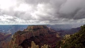 Time  lapse of clouds over the Grand Canyon as seen from the North Rim at Cape Royal. Camera fixed.
