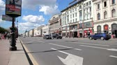 View on the Nevsky Prospect in St. Petersburg, Russia