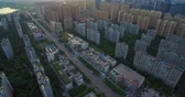 Aerial view of Chengdu Cityscape of residential buildings with sense trees , nice housing apartment area Wideo