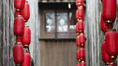 chengdu : Red lanterns in Jinli Chengdu city of Sichuan China, Chinese New Year decorations, Chinese Asia culture footages