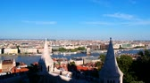 budapeste : Aerial view at Budapest, Hungary from Fishermans Bastion