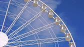 Close-up of the ferris wheel spinning in 4k