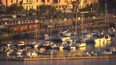 MESSINA, ITALY - NOVEMBER 06, 2018 - Panoramic view of the buildings on the side of the port in Sicily in 4k Vídeos