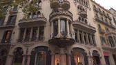varanda : BARCELONA, SPAIN - NOVEMBER 09, 2018 - Exterior View of Casa Batllo in 4K