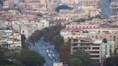 Panoramic top view of the local buildings and the traffic on the road in the beautiful city of Messina, Sicily, Italy in 4k Vídeos