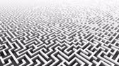 emaranhado : 3d rising above huge endless maze