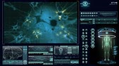 digital : Human neural network visualization. Futuristic  medical application interface.
