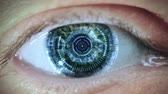 information : Cybernetic brain. Zooming through eye.