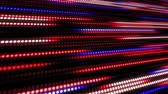 kontinuita : Red and blue abstract technology background of little light dot stripes. Motion waving glowing d-focused little ball particles. Abstract creative pop colorful motion.