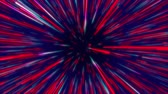 movimento circular : Red and blue colorful abstract radial lines geometric background. Data flow tunnel. Explosion star. Motion effect. background