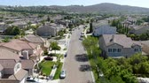 이웃 : Aerial view suburban neighborhood with big villas next to each other in Black Mountain, San Diego, California, USA. Residential modern subdivision luxury house.