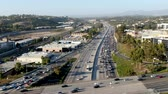 složitost : Aerial view of the San Diego freeway, Southern California freeways, USA